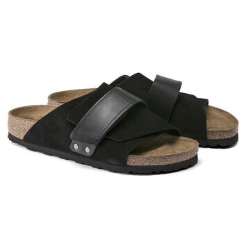 Kyoto Oiled Leather/Suede Leather Black