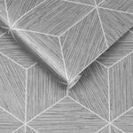 Grasscloth Geo Grey Wallpaper