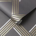 Vector Graphite Gold Wallpaper
