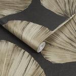 Palm Fan Charcoal Wallpaper