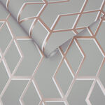 Archetype Grey & Rose Gold Wallpaper