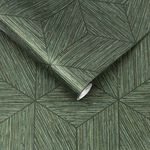 Grasscloth Geo Pine Wallpaper