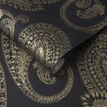 Boteh Gold Wallpaper