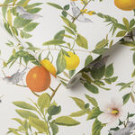 Amalfi White Wallpaper