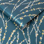 Floret Teal Wallpaper