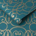 Shoji Teal Wallpaper