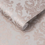 Antique Taupe & Rose Gold Wallpaper