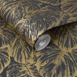 Tropical Charcoal Wallpaper