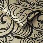 Hula Swirl Guilded Wallpaper
