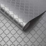 Trelliage Bead Silver Wallpaper
