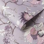 Bordado Mauve Wallpaper