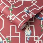 Bird Cage Rouge Wallpaper