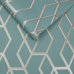 Archetype Mint & White Gold Wallpaper