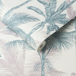 Jungle Blush Green Wallpaper