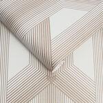 Lagom Geo White & Rose Gold Wallpaper