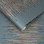 Tornado Stripe Teal Wallpaper