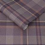 Heritage Plaid Plum Wallpaper