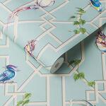 Bird Cage Aqua Wallpaper