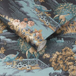 Edo Toile Navy Wallpaper