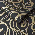 Hula Swirl Noir Wallpaper