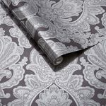 Souk Damask Onyx Wallpaper