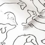Buckley Monochrome Wallpaper