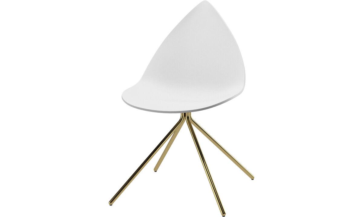 Esszimmerstühle - Ottawa Stuhl - Weiß - Metall