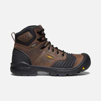 "Men's Portland 6"" Waterproof Boot (Carbon-Fiber Toe) in Dark Earth/Black - large view."