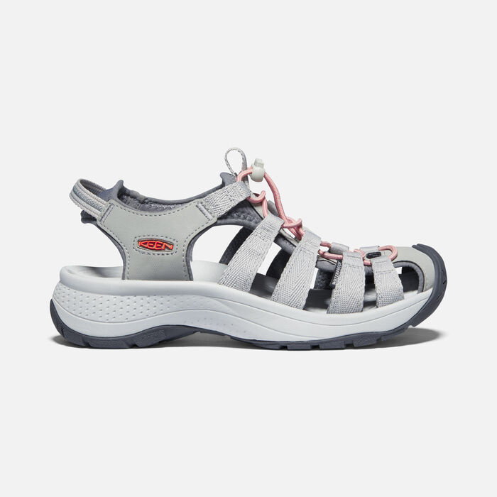 Women's Astoria West Sandal in Grey/Coral - large view.