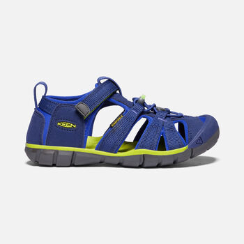 Big Kids' Seacamp II CNX in Blue Depths/Chartreuse - large view.