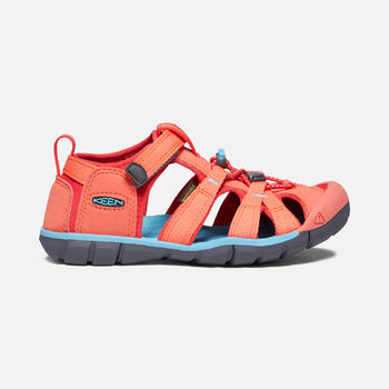 Little Kids' Seacamp II CNX in Coral/Poppy Red - large view.