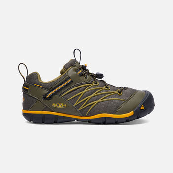 Big Kids' CHANDLER Waterproof CNX in Dark Olive/Citrus - large view.