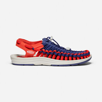 Men's UNEEK Flat Cord in Blue Depths/Firey Red - large view.