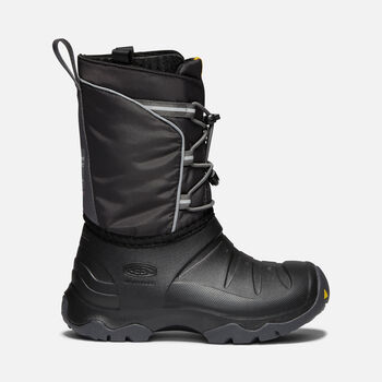 Big Kids' LUMI Waterproof Winter Boot in BLACK/MAGNET - large view.