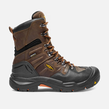 """Men's Coburg 8"""" Waterproof Boot (Steel Toe) in Cascade Brown/Brindle - large view."""