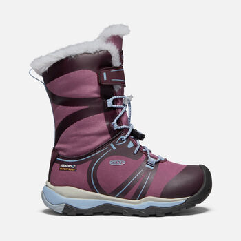 Little Kids' Terradora Winter Waterproof Boot in WINESTASTING/TULIPWOOD - large view.