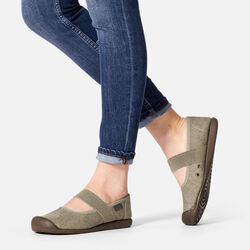 Women's Sienna Canvas Mary Jane in  - on-body view.