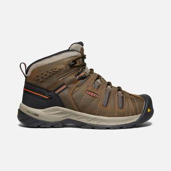 Men's Flint II Boot (Soft Toe) in Cascade Brown/Burnt Ochre - large view.