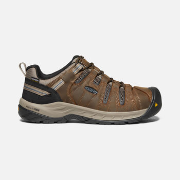 Men's Flint II Waterproof (Steel Toe) in Cascade Brown/Orion Blue - large view.