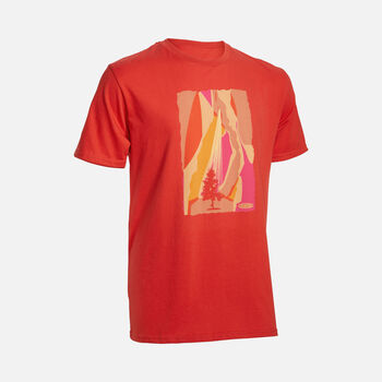 Men's The Lone Tree Tee in MOLTEN LAVA - large view.