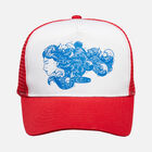 'Woman Dreaming' Mesh Hat in Red - small view.