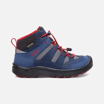 Big Kids' HIKEPORT Waterproof Mid in Dress Blues/Fiery Red - large view.