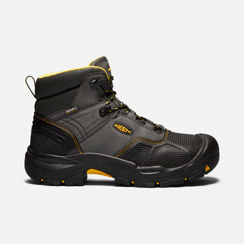 Men's Logandale Waterproof Boot (Soft Toe) in RAVEN/BLACK - large view.