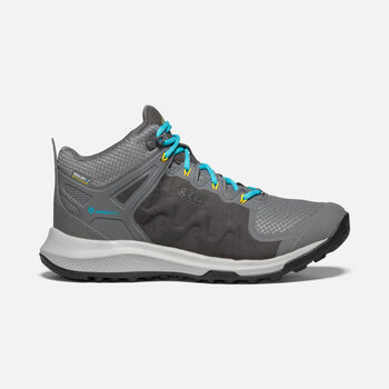 Women's Explore Waterproof Boot in STEEL GREY/BRIGHT TURQUOISE - large view.