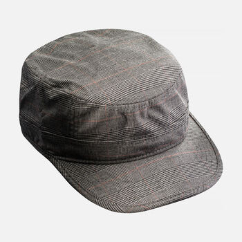 KEEN Short Bill Hat in Olive Plaid - large view.