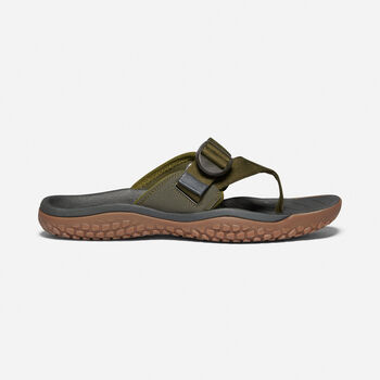 Men's SOLR Toe Post Sandal in Dark Olive - large view.