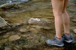 Women's Terradora II Waterproof Shoe in  - on-body view.