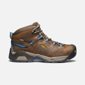 Men's Detroit XT Waterproof Boot (Steel Toe) in CASCADE BROWN/ORION BLUE - large view.