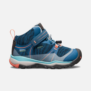 Little Kids' TERRADORA Waterproof Mid in AQUA SEA/CORAL - large view.