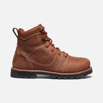 "Women's Seattle 6"" Waterproof Boot (Aluminum Toe) in GINGERBREAD/BLACK - large view."